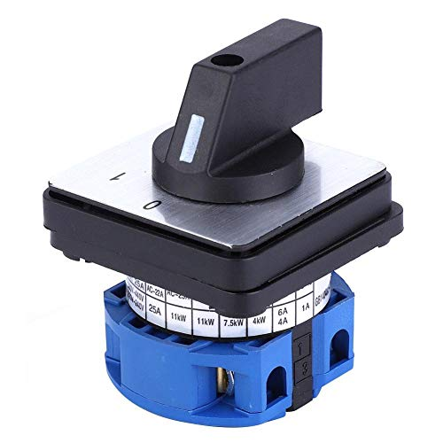 Interruptor de Cambio Universal BERM 690V 25A Selector de 2 Posiciones BEM28-25/1 Interruptor de Leva Giratoria C02 con 4 Tornillos