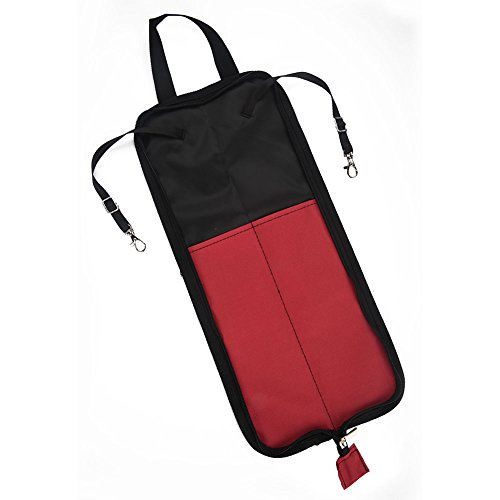 Dilwe Drum Stick Bag, 5 Colors Drum Stick Storage Hanging Bag Drumstick Portable Handbag with Handle(Red)