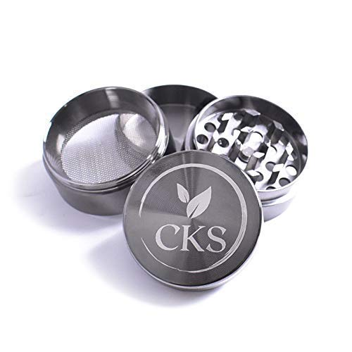 GRINDER,HERB,SPICE,Small,Compact 40mm 1.6 inch grinder, 4 layer lightweight with magnetic cap (GUN METAL GREY)