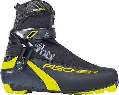 Fischer RC 3 Combi XC Ski Boots Mens Sz 43 Black/Yellow