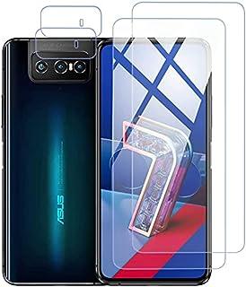 [عبوة واحدة] واقي من الزجاج المقسى من بولي و [قطعتان] لعدسات الكاميرا ASUS Zenfone 8 Pro ، [بدون فقاعات] [لمس الحساسة] واق...