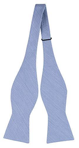 Notch Ungebundene Fliege aus Leinentuch für Herren - Mikroskopische blaue Streifen