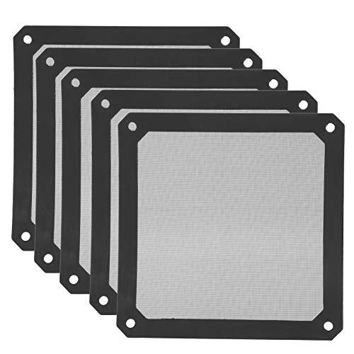 Filtro de Ventilador Enfriador de 5 Piezas, 120 x 120 x 1,7 mm Filtro de Polvo de Marco de Malla de Ventilador de computadora magnético de PVC, Rejillas de Cubierta de Ventilador de Enfriador de PC