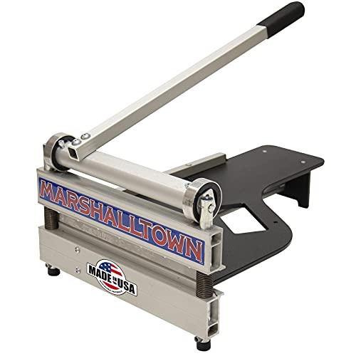 MARSHALLTOWN New & Improved 13' Lightweight Vinyl Plank & Laminate Flooring Cutter, Also Cuts Engineered Hardwood, Siding, and More - Honing Stone Included, Made in the USA