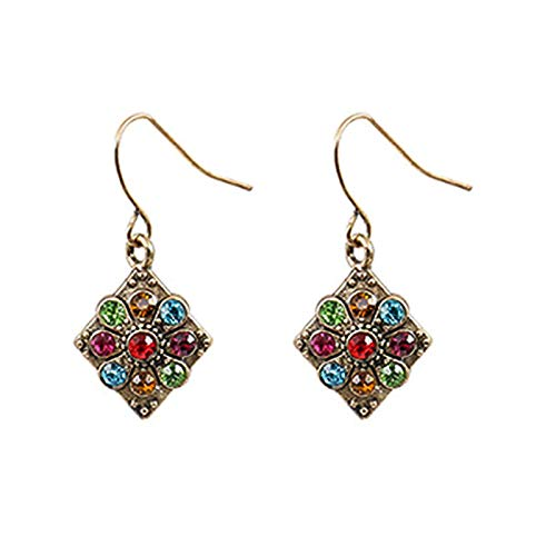 HUAJIA 1 Pair Bohemian Vintage Earrings,Retro Dangle Drop Earring Vintage Ear Ring Dangle Eardrop Jewelry Accessories for Women Girl Supplies 04
