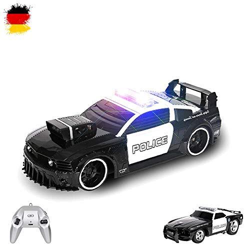 RC ferngesteuertes Polizeiauto im U.S Police Design mit Licht und Sirene Auto inkl. Fernsteuerung