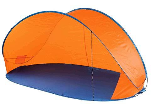 Crivit Pop Up Strandmuschel Sonnenschutz Windschutz in Sekundenschnelle Orange