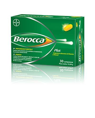 Berocca Plus - Integratore Vitamine B, vitamina C e Calcio per Performance Mentale e Energia - 30 Compresse Deglutibili