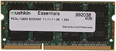 Mushkin Essentials – DDR3 Laptop DRAM – 8GB Memory Single SODIMM – DDR3L-1600MHz (PC3L-12800) CL-11 – 204-pin 1.35LV Notebook RAM – Low-Voltage – (992038)