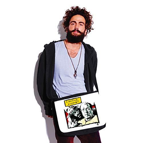bubbleshirt Borsa a Tracolla Film Cult Anni 80-90 - er monnezza - a venticè ecchime - Bombolo - Idea Regalo