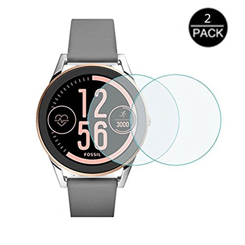 for Fossil Q Control Watch Screen Protector - [2pack] High Clear Smartwatch Tempered Glass Screen Protector for Watch Fossil Q Control,Q Control,q Control Fossil Fossil Q Control