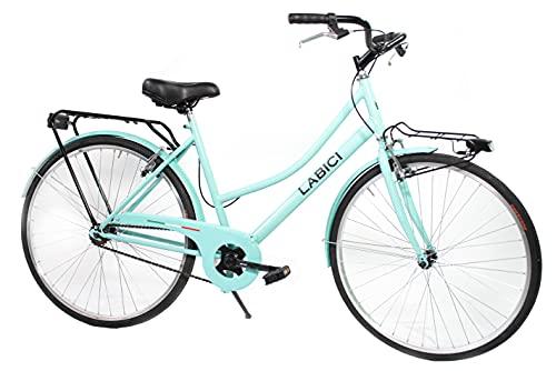 """LABICI BIKECONCEPT Modello Olanda, Bicicletta Unisex Adulto, Verde, 26"""""""