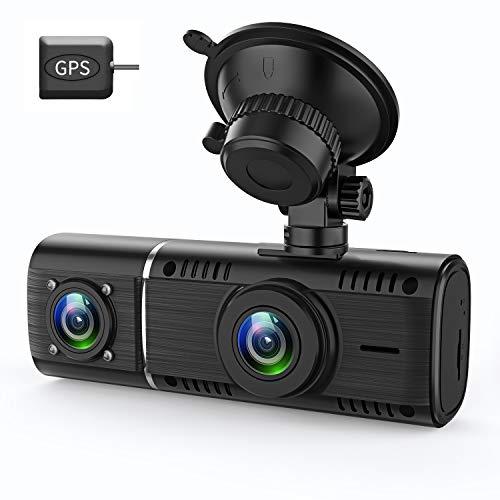 GreenGee ドライブレコーダー 前後カメラ 1080P GPS付き 32GBカード付属 Gセンサー 停車監視 車内カメラ 動...