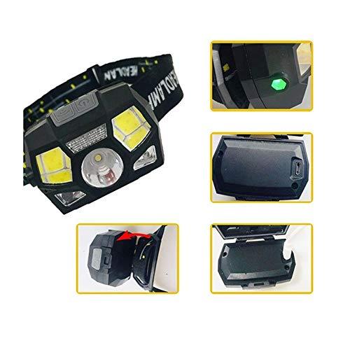 LED Fuera DE Fuera DE Fuera DE LED, Miniferías Impermeable Faro de la inducción Carga DE Pesca DE PESCADA, USB Headtorch, Headtorch