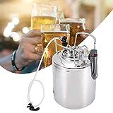Oyunngs Sistema de Barril de Cerveza, Kit dispensador de Sistema de Barril de Cerveza de Acero Inoxidable con Grifo de Manguera, para Cerveza Artesanal, Barril y Cerveza casera(10L)