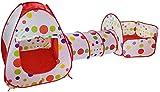 FQCD / Aire Libre de Interior del tnel del Juego y Juego de la Tienda 3 en Tiendas de campaa de Juguetes de 1 Infantil del beb Juegos Infantil Tneles ( Color : Red )