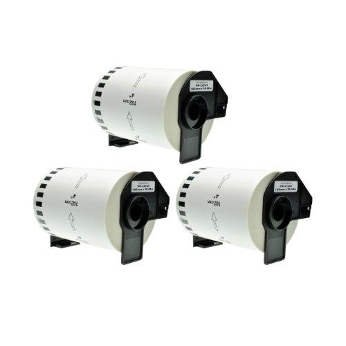 Logic-Seek 3X Endlos-Etikett kompatibel für Brother DK22243 102mm x 30,48m P-Touch QL1050 QL1060 N