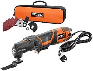 Ridgid JobMax R28600 3 Amp Multi-tool Starter Kit - Powerful Corded Base, Variable Speed Trigger