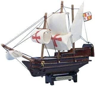 Hampton Nautical Santa Maria Tall Model Ship, 7