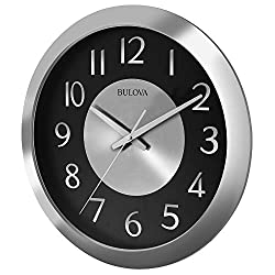Bulova Music Streamer Stereo Bluetooth Wireless Speakers Clock, Silver