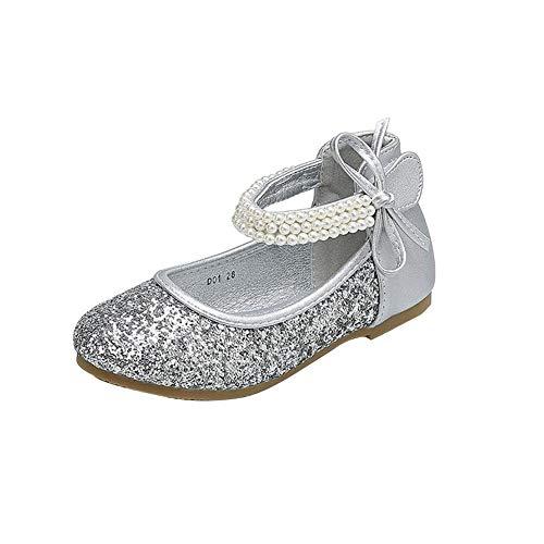 Zapatos De Niña Lentejuelas De Princesa Zapatos De Fiesta De Niños Baile...