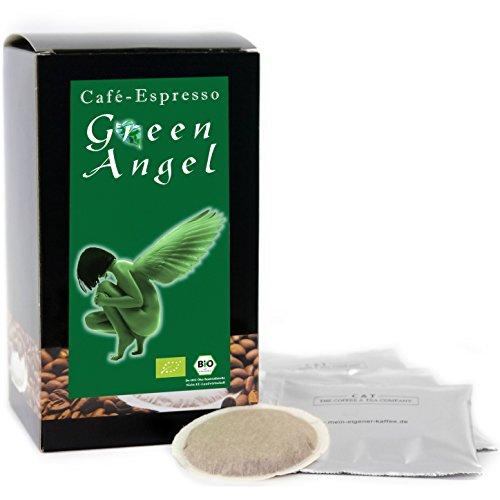 C&T Premium Kaffeepads BIO Espresso Green Angel 30 Stück | Pads für Senseo Kaffeemaschine | Kräftig-Würzig | Schokoladig | Leichte Säure | Schonend geröstet in eigener Privatrösterei