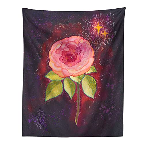 KHKJ Tapiz psicodélico Cielo Estrellado Flor Planta decoración de la Pared tapices Hippie decoración Boho decoración del hogar Mural A4 230x180cm