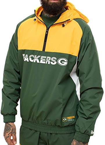New Era Green Bay Packers Color Block NFL Windbreaker Jacke, 3XL