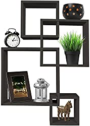 Greenco 4 Cube Intersecting Wall Mounted Floating Shelves Review