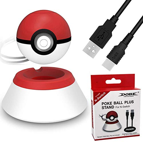 Charger Stand Compatible for 2019 Nintendo Switch Pokeball Plus Controller, Conveniently Charger Stand with Charger Cable for Pokeball Plus Controller,Accessory for Pokémon Lets Go Game