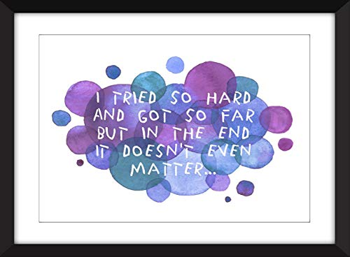 Linkin Park In the End Lyrics - Unframed Print/Ungerahmter Druck