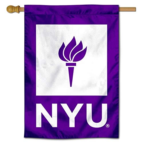 College Flags & Banners Co. New York Violets Two Sided and Double Sided House Flag