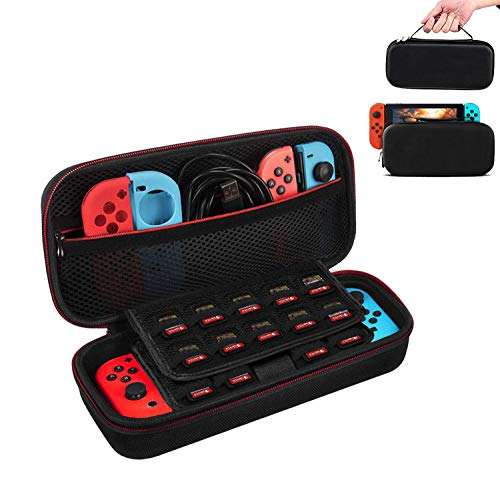 Funda para Nintendo Switch Con Soporte,Case de protección para Nintendo Switch, Bolsa Transporte Ligera Case con más Espacio de almacenamiento para 19 Juegos Para accesorios Nintendo Switch