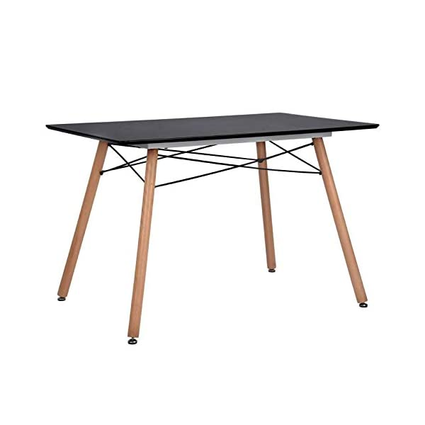GreenForest Dining Table Wood Top and Legs Modern Leisure Coffee Table Home and Kitchen