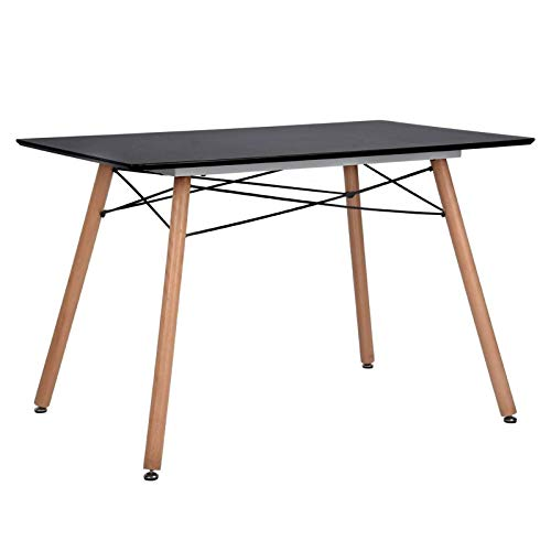 GreenForest Dining Table Rectangular Top with Wooden Legs Modern Leisure Coffee Table 44'' x 30'',...