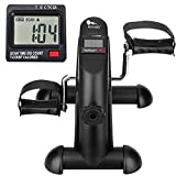 Mini Exercise Bike, Under Desk Bike Pedal Exerciser Portable Foot Cycle Arm & Leg Peddler Machine with LCD Screen Displays from Green Joy