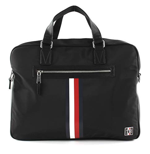 TOMMY HILFIGER Clean nylon Computer Bag Black