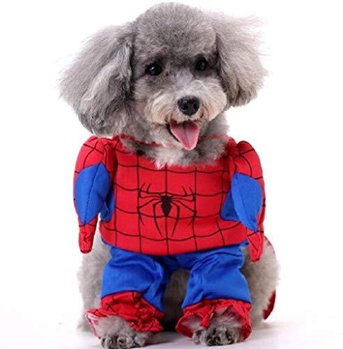 EVRYLON Disfraz de Spiderman para Mascotas Spider Man Dog m Spiderman