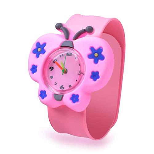 SFBBBO Reloj niño Relojes para niños Relojes de Pulsera para niños de Dibujos Animados en 3D Reloj para niños Reloj Relojes de Cuarzo para niños Regalos Mariposa
