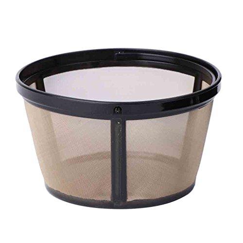 S-TROUBLE Herramienta de Malla metálica Permanente Estilo Cesta de Filtro de café de 10-12 Tazas Reutilizable sin BPA