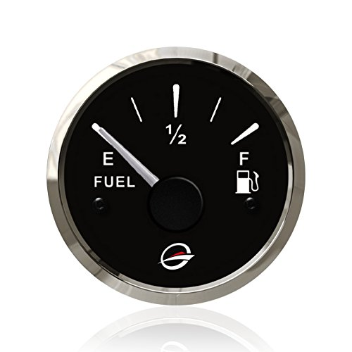 2' 12V Fuel Level Gauge Resistance - 240-33 Ohm 24V RV Universal Oil Meter E-1/2-F Indicating Range, Lighting Background, Anti-Fogging Anti-Rust Waterproof Stainless Stress Frame for Boat Marine