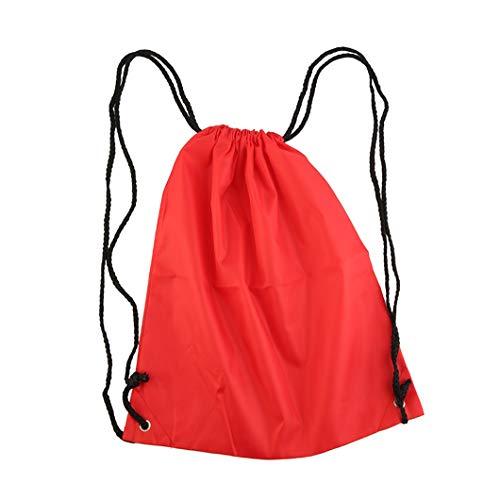 KELWF wasserdichte Starke Nylonschnur Tragegriffe Rucksack Premium School Kordelzug Reisetasche für Sport Gym Badeschuh Aufbewahrung Drop Ship red