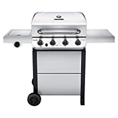 Exclusive Stainless Steel finish for increased style and durability Stainless Steel burners emit flame from the top to allow for even cooking Porcelain-coated grease pan is durable and can be removed for easy cleaning Porcelain coated cast-iron grate...