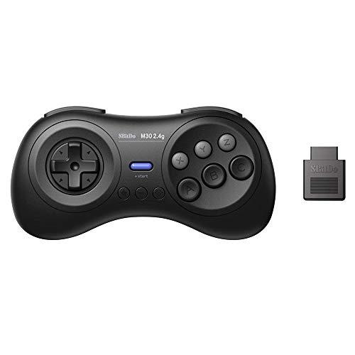 Goolsky 8BitDo M30 2.4G Gamepad Wireless + Ricevitore 2.4G per Sega Genesis e Sega Mega Drive