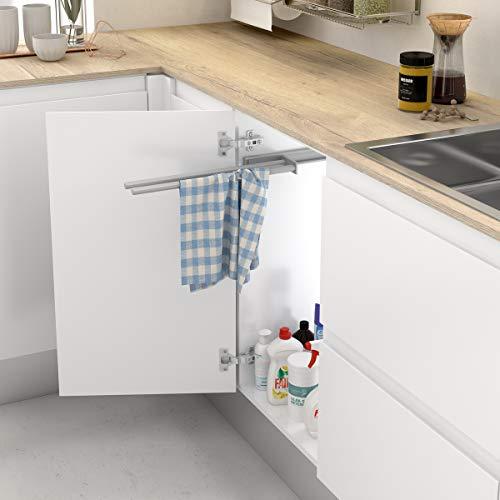 Casaenorden - Soporte extraíble de Aluminio para paños y Toallas - Toallero extraíble - Colgador de Toallas y paños de Cocina, 465