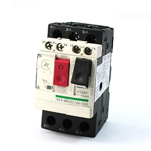 X-DREE 1NC 1NO Protector de interruptor de circuito de motor de montaje en carril DIN trifásico de 35 mm(1NC 1NO Three Phase 35MM DIN Rail Mounting Motor Circuit Breaker Protector