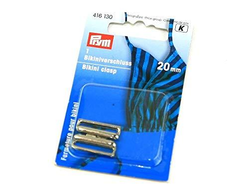 416130 - Bikiniverschluss Metall silberfarbig 20 mm