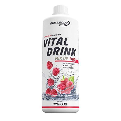 Best Body Nutrition Vital Drink Himbeere, zuckerfreies Getränkekonzentrat, 1:80 ergibt 80 Liter Fertiggetränk, 1000 ml