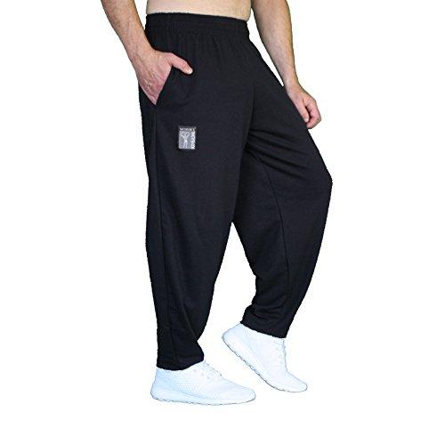 MORDEX BW ohne Druck Lange Fitnesshose Trainingshose Bodybuilding (schwarz, XL)