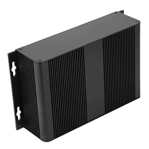 Caja de aluminio, caja de aluminio DIY de aleación de aluminio con disipación de calor, cómoda 2.1 * 8 * 4.7in para productos electrónicos Diseño de tipo dividido